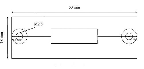 ابعاد کارت آشکارساز CCD خطی TCD1205